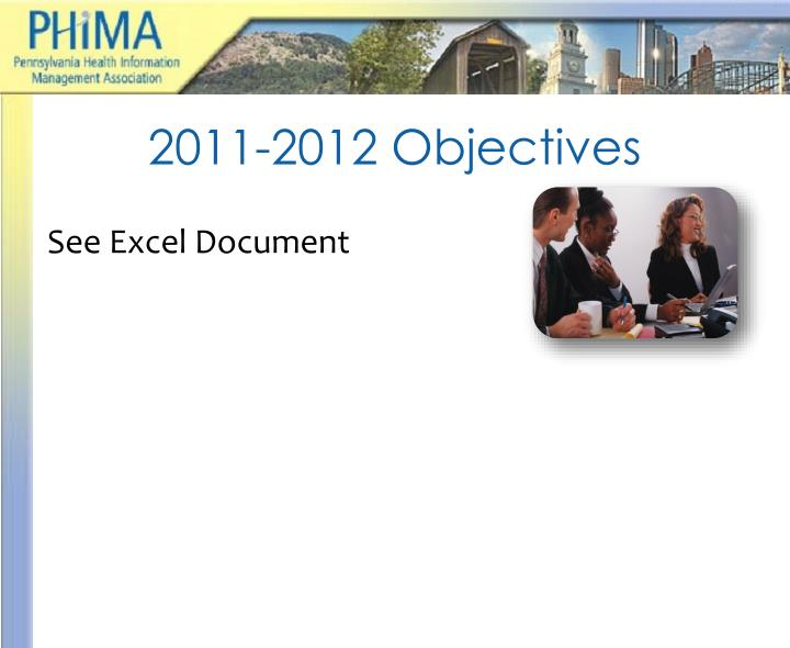 2011-2012 Objectives