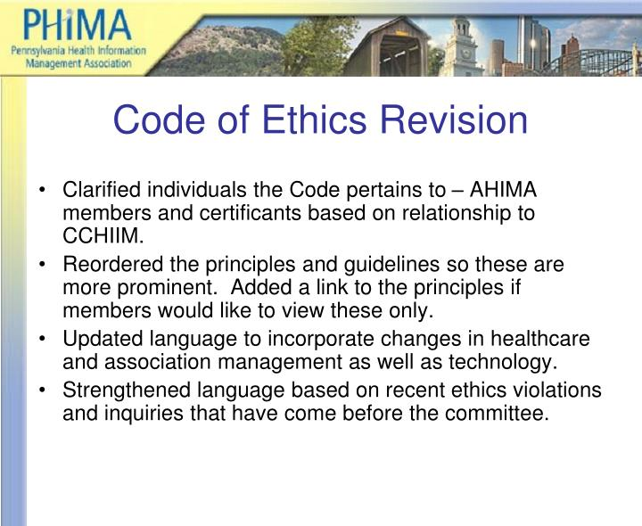 Code of Ethics Revision