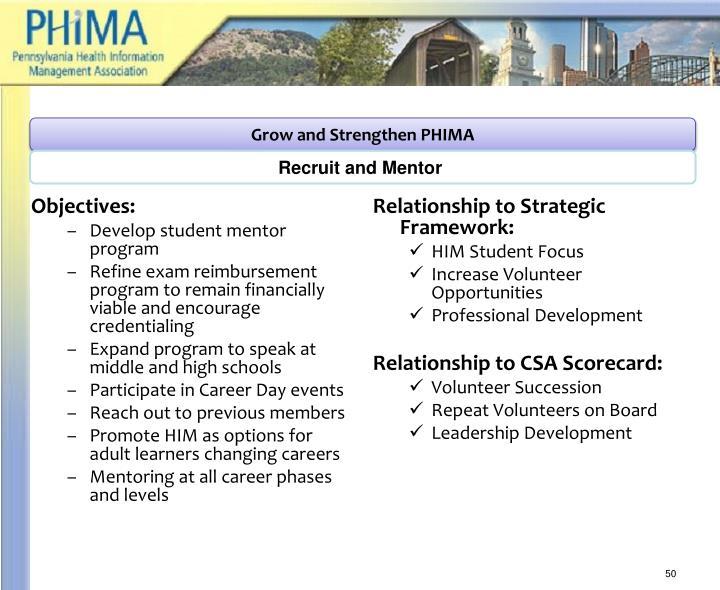 Grow and Strengthen PHIMA