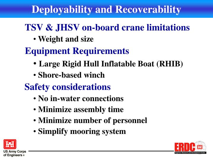Deployability and Recoverability