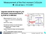 measurement of the first moment g x dx d g at low x 0 001