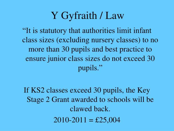 Y Gyfraith / Law