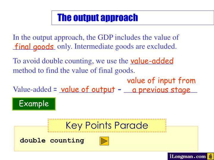 The output approach