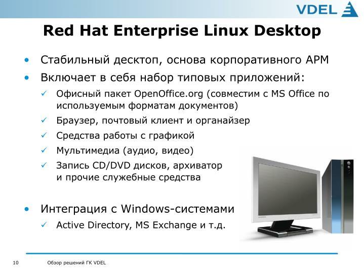 Red Hat Enterprise Linux Desktop