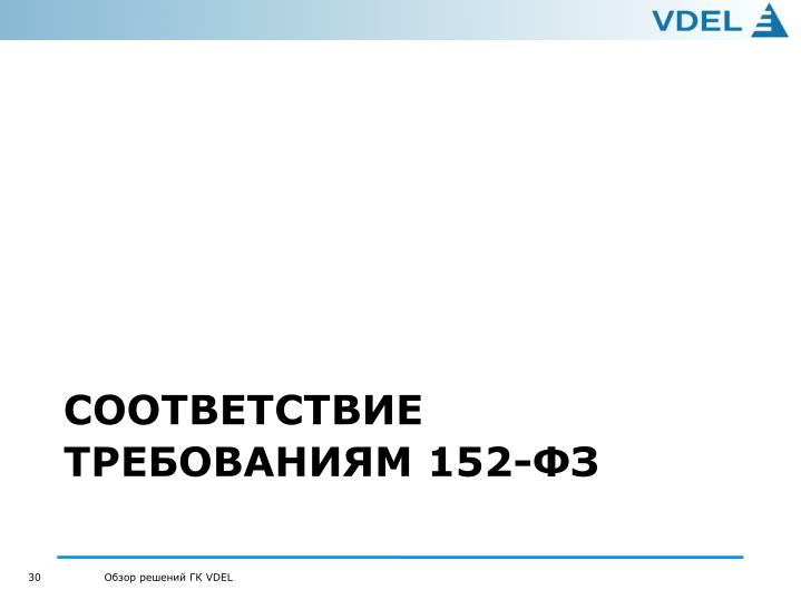 СООТВЕТСТВИЕ ТРЕБОВАНИЯМ 152-ФЗ