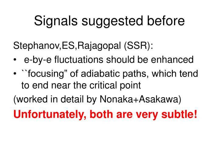 Signals suggested before