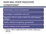 how will state facilitate conditions