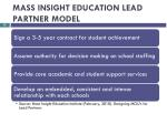 mass insight education lead partner model