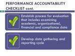 performance accountability checklist cont