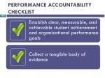 performance accountability checklist