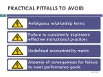 practical pitfalls to avoid