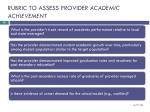 rubric to assess provider academic achievement