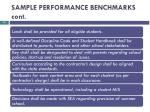 sample performance benchmarks cont