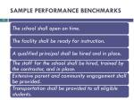 sample performance benchmarks