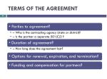 terms of the agreement