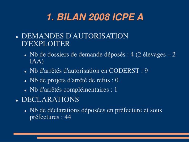 1 bilan 2008 icpe a