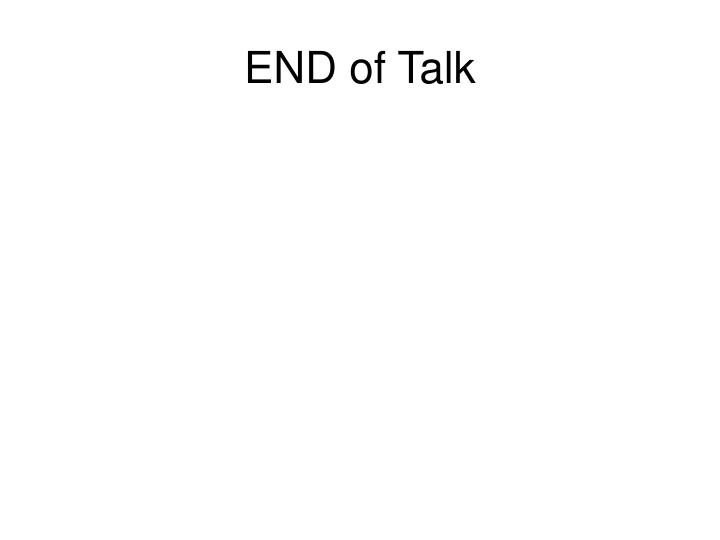 END of Talk