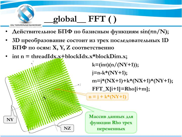 __global__ FFT ( )