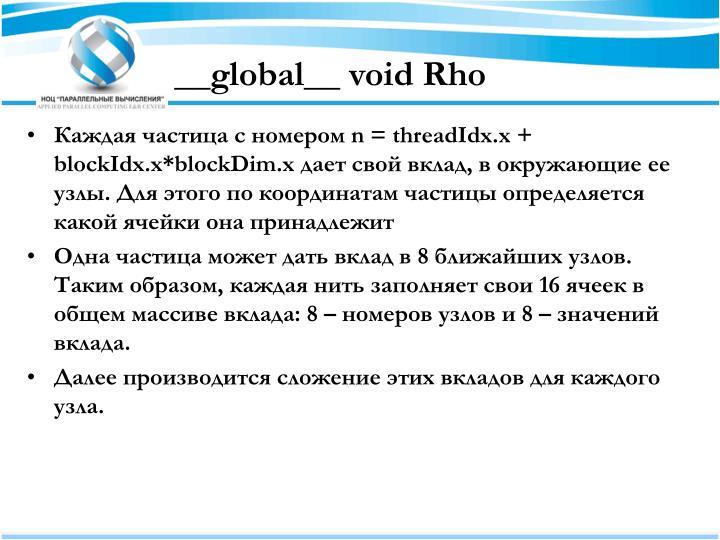 __global__ void Rho