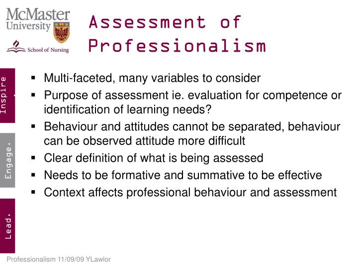 assessment of professional competence p Assessment of professional competence (part ii – qualifying examination).