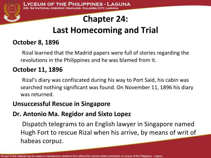 chapter 24 last homecoming and trial n.