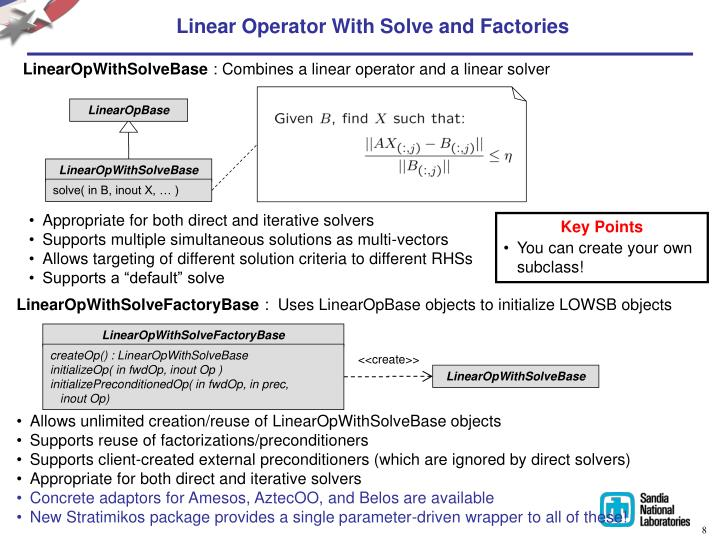 Linear Operator With Solve and Factories