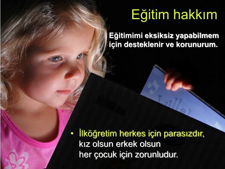 Eğitim hakkım