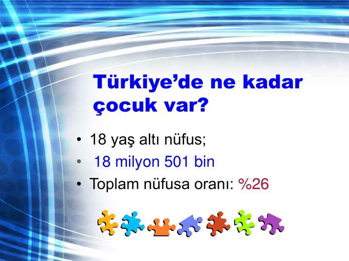 Türkiye'de ne kadar çocuk var?