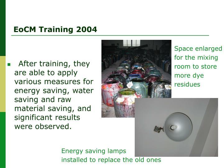 EoCM Training 2004