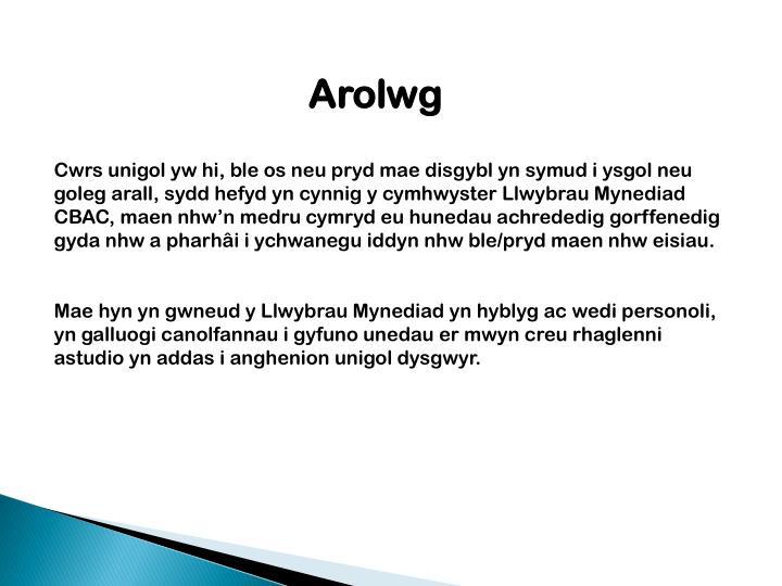 Arolwg