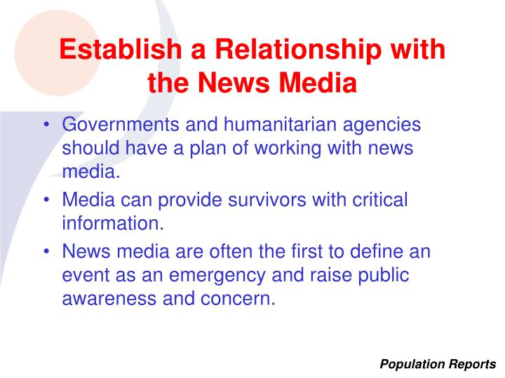 Establish a Relationship with the News Media