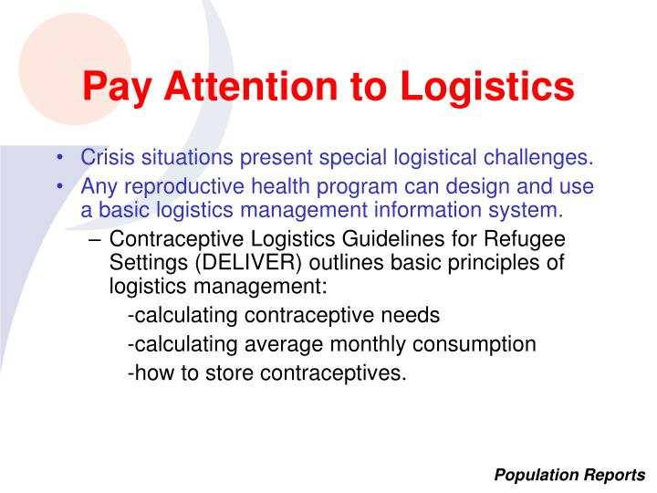 Pay Attention to Logistics