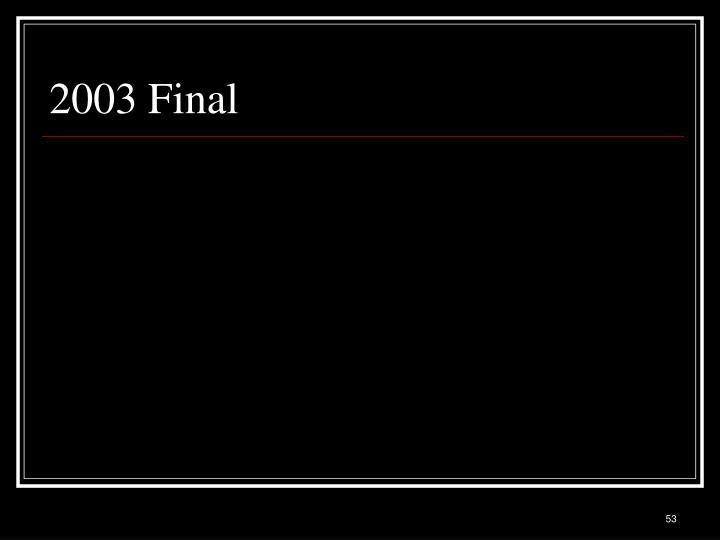 2003 Final
