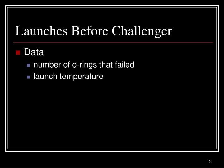 Launches Before Challenger