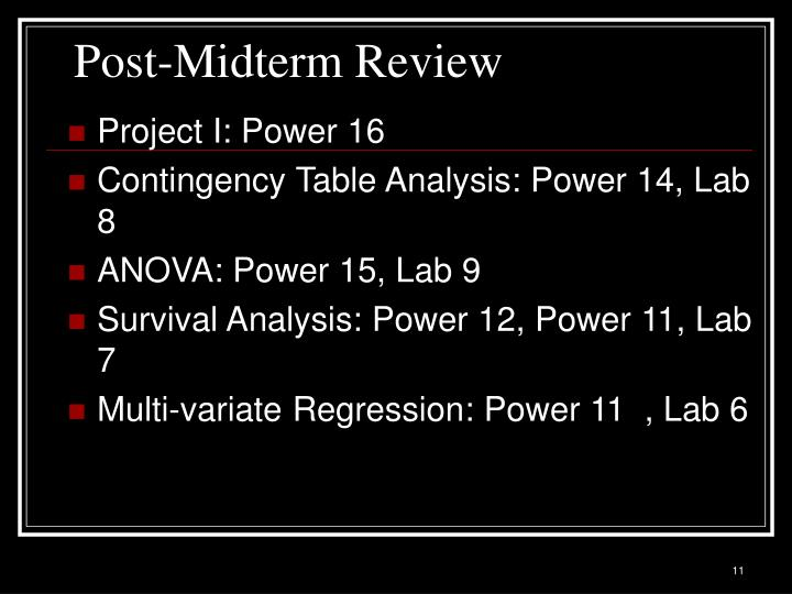 Post-Midterm Review
