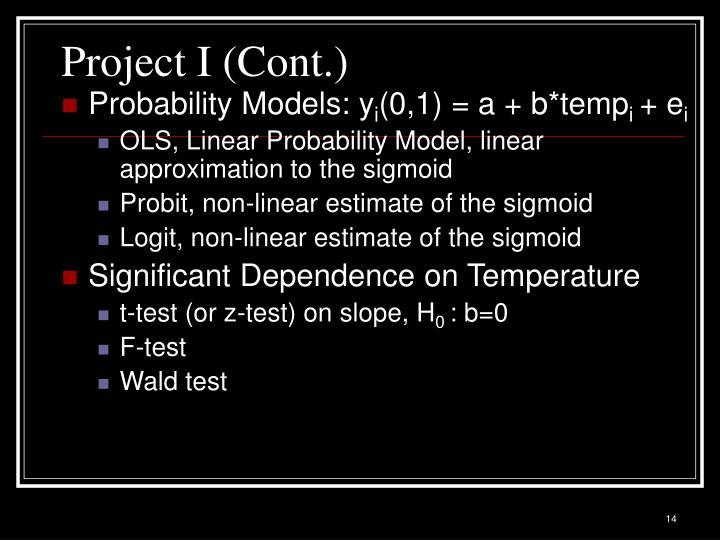 Project I (Cont.)
