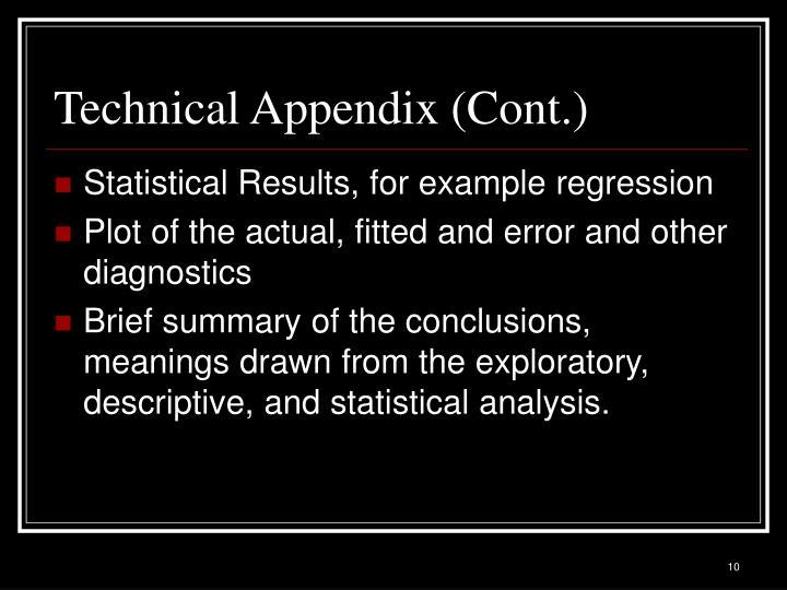 Technical Appendix (Cont.)