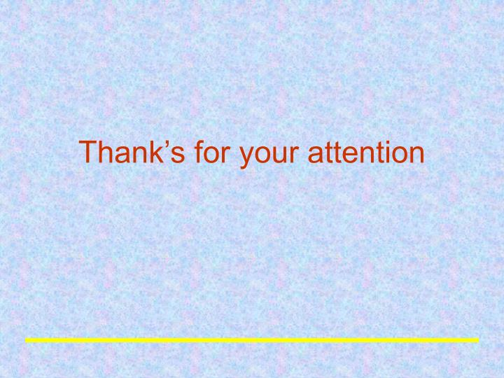 Thank's for your attention