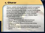 c gharar