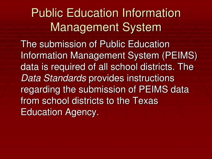Public Education Information Management System