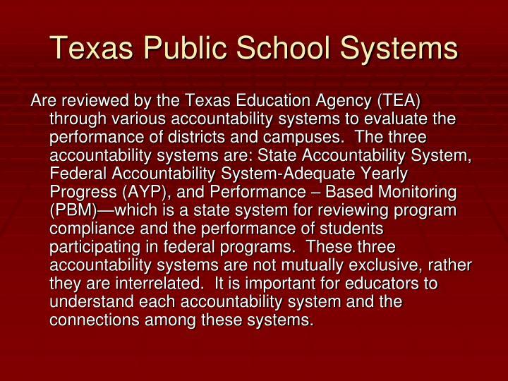 Texas Public School Systems