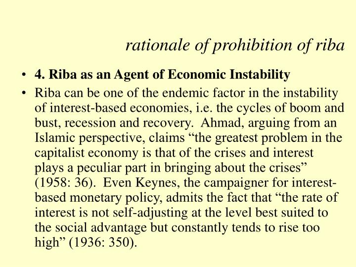 prohibition of riba from the perspective Historical, religious and scholastic prohibition of of usury are extremely interesting from the perspective comply with the prohibition of riba18 these.