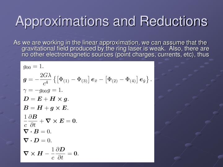 Approximations and Reductions