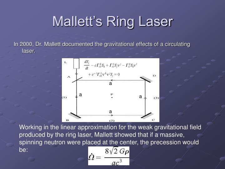 Mallett's Ring Laser