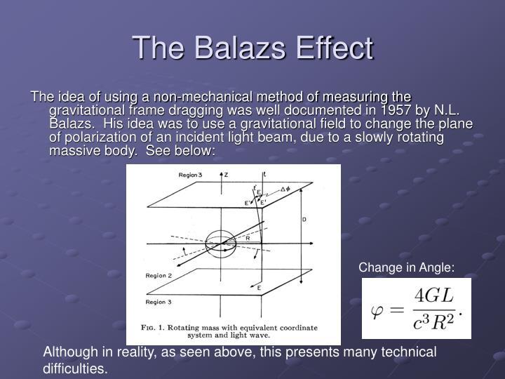 The balazs effect