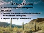 17 3 cattle ranching