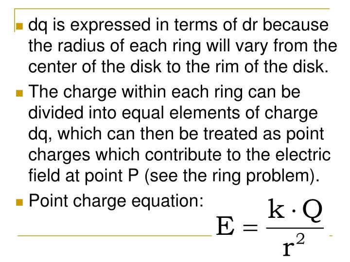 dq is expressed in terms of dr because the radius of each ring will vary from the center of the disk to the rim of the disk.