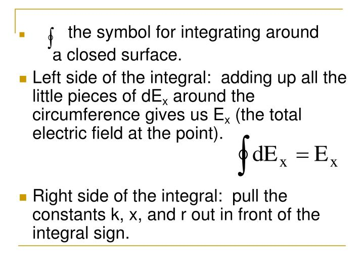 is the symbol for integrating around