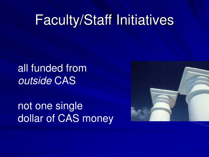 Faculty/Staff Initiatives