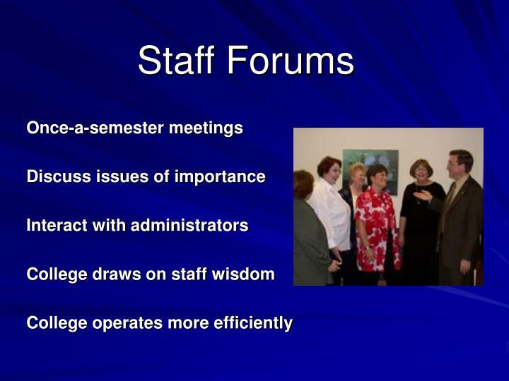 Staff Forums